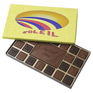French Soleil Get Well Soon Yellow Chocolate Box