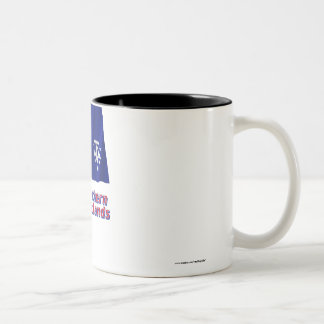 French Southern and Antarctic Lands Flag w Name Two-Tone Coffee Mug