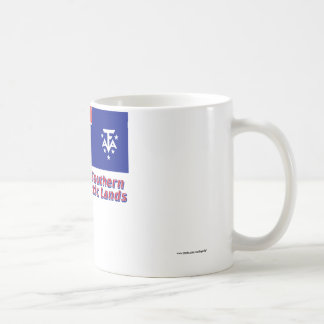 French Southern and Antarctic Lands Flag with Name Coffee Mug