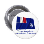 French Southern and Antarctic Lands Waving Flag wi Buttons