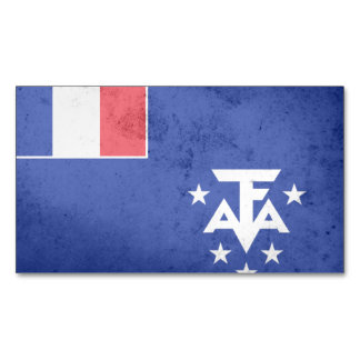 French Southern Antarctic Lands Flag Magnetic Business Cards (Pack Of 25)