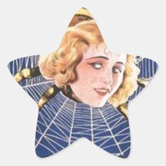 French Spider Girl Star Sticker