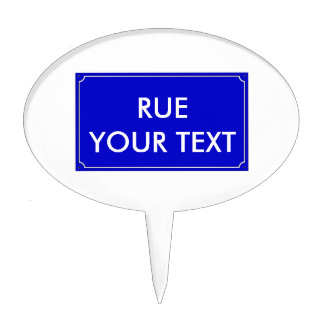 French Street Sign Template Cake Topper