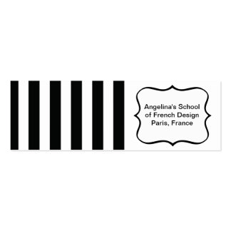 French Stripes in Black Business Card Template