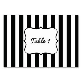 French Stripes in Black Card