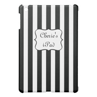 French Stripes in Black Case For The iPad Mini