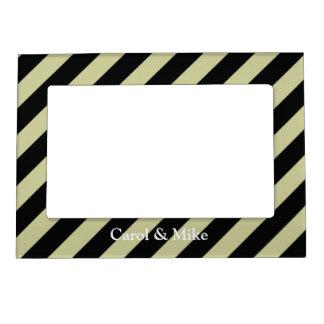 French Stripes in Black Magnetic Photo Frame