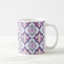 French Style Fleur de Lis Pattern Coffee Mug