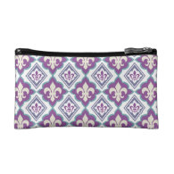 French Style Fleur de Lis Pattern Cosmetic Bag