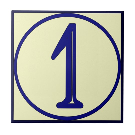French Style House Numbers 1 Ceramic Tile