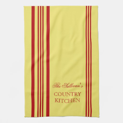 French Style Stripe Personalized Kitchen Towels