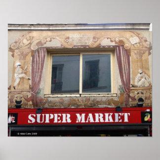 French Super Market Print