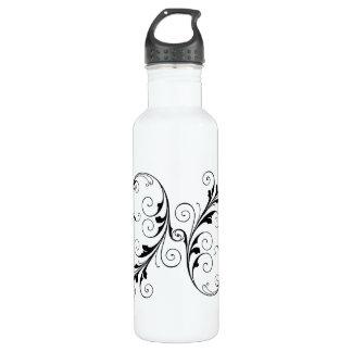 French Swirl Stainless Steel Water Bottle