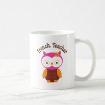 French Teacher Owl Coffee Mug