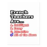 French Teacher Quiz...Joke Postcards