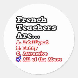 French Teacher Quiz...Joke Sticker