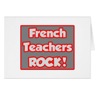 French Teachers Rock! Cards