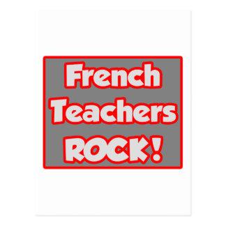 French Teachers Rock! Postcard