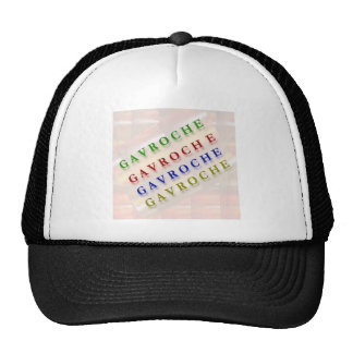 French Text GAVROCHE G A V R O C H E Mesh Hat