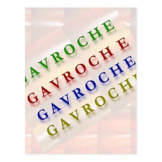 French Text: GAVROCHE        G A V R O C H E Postcard