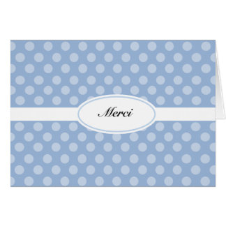 French thank you card blue