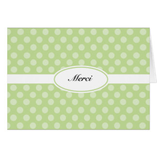 French thank you card green