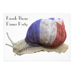 French Theme Dinner Party with Snail Personalized Invites