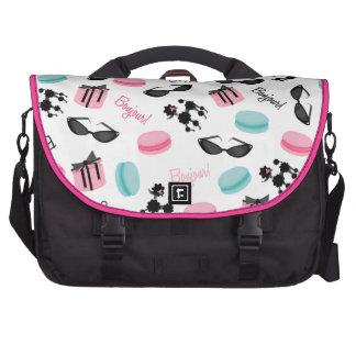 French Theme Laptop Bag