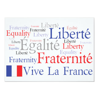 French Themed Event - French American Friendship Card