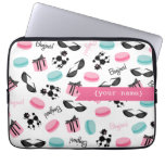 French Themed Personalized Electronics Bag Laptop Computer Sleeves