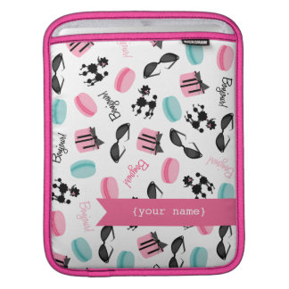 French Themed Personalized iPad Sleeve