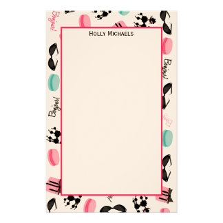 French Themed Personalized Stationery