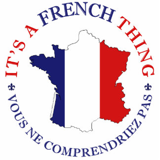 French Thing Standing Photo Sculpture