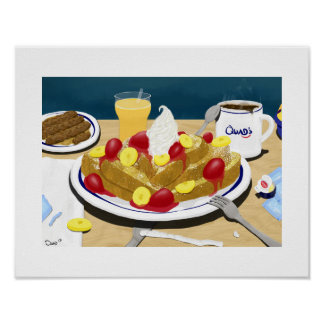 French Toast at Quad's House of Pancakes Poster