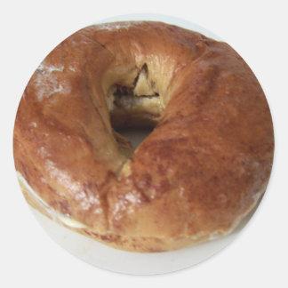 french toast bagel classic round sticker