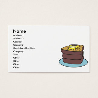 french toast business card