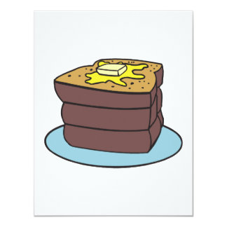 french toast 4.25x5.5 paper invitation card