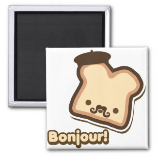 French Toast 2 Inch Square Magnet