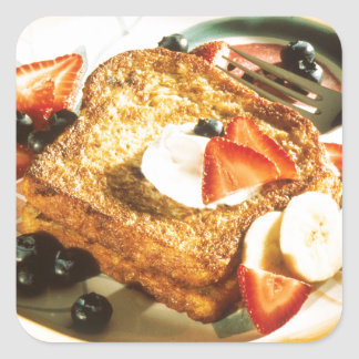 French Toast Square Sticker