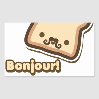 French Toast Rectangle Sticker