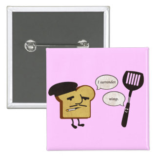 French Toast vs. Spatula Pinback Button