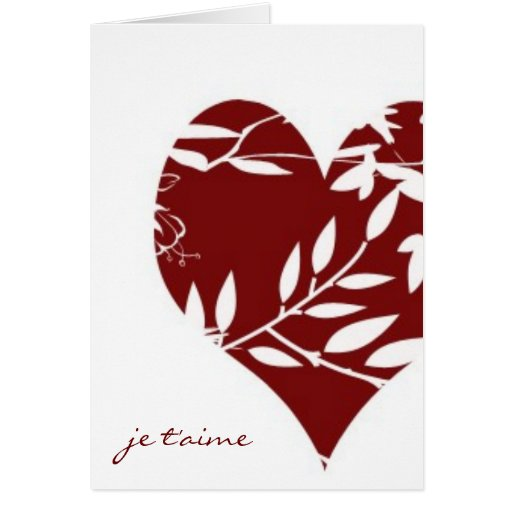 French Toile Valentine-I Love You (Informal) Greeting Cards