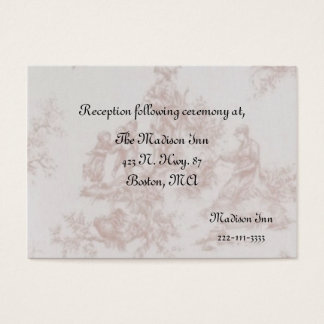 French Toile Wedding enclosure cards