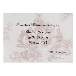 French Toile Wedding enclosure cards Business Card Templates