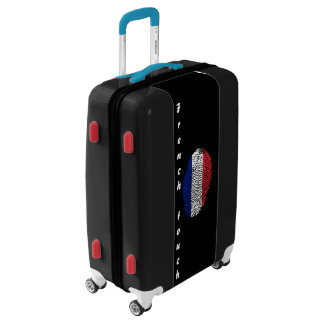 French touch fingerprint flag luggage