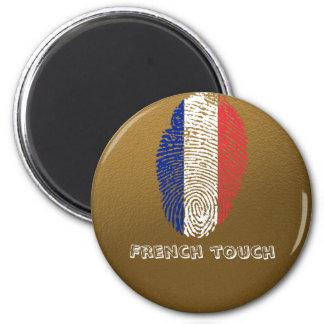 French touch fingerprint flag magnet