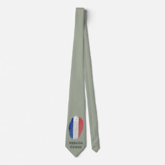 French touch fingerprint flag tie