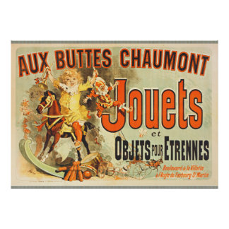 French toy Joets Poster Friends Vintage