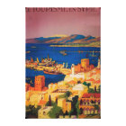 French Travel Poster, Touring in Syria Canvas Print