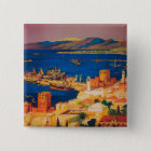 French Travel Poster, Touring in Syria Pinback Button
